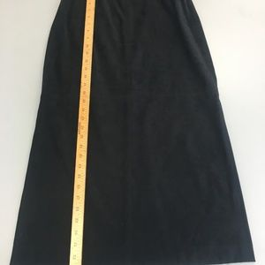 Black Talbots 10P Faux Suede Long skirt      B21